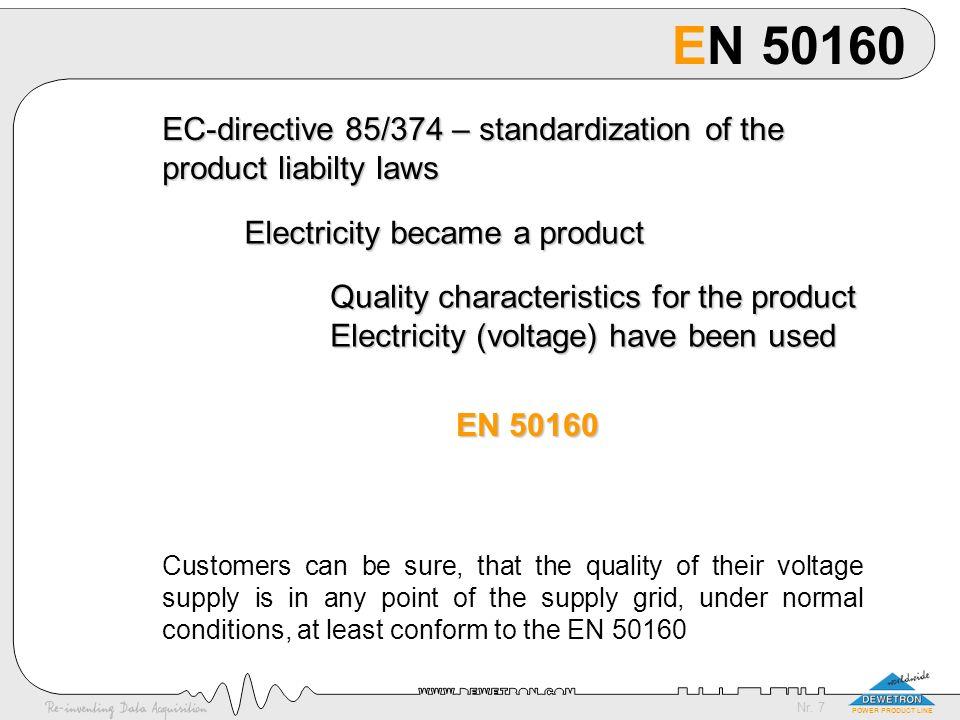 Nr. 8 POWER PRODUCT LINE EN 50160 in details