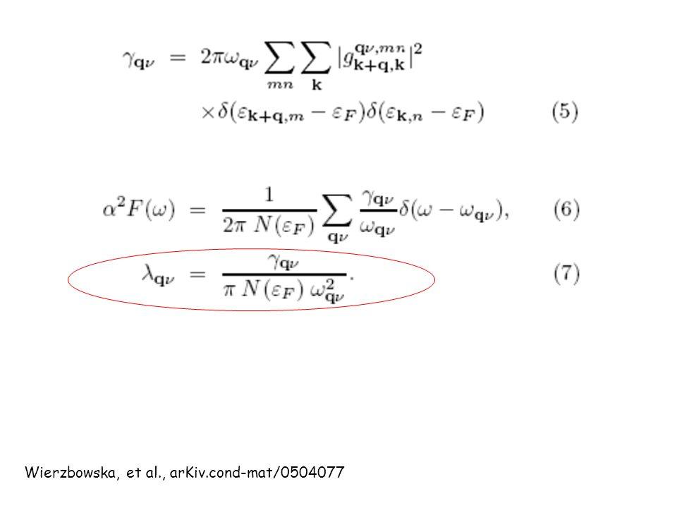 Wierzbowska, et al., arKiv.cond-mat/0504077