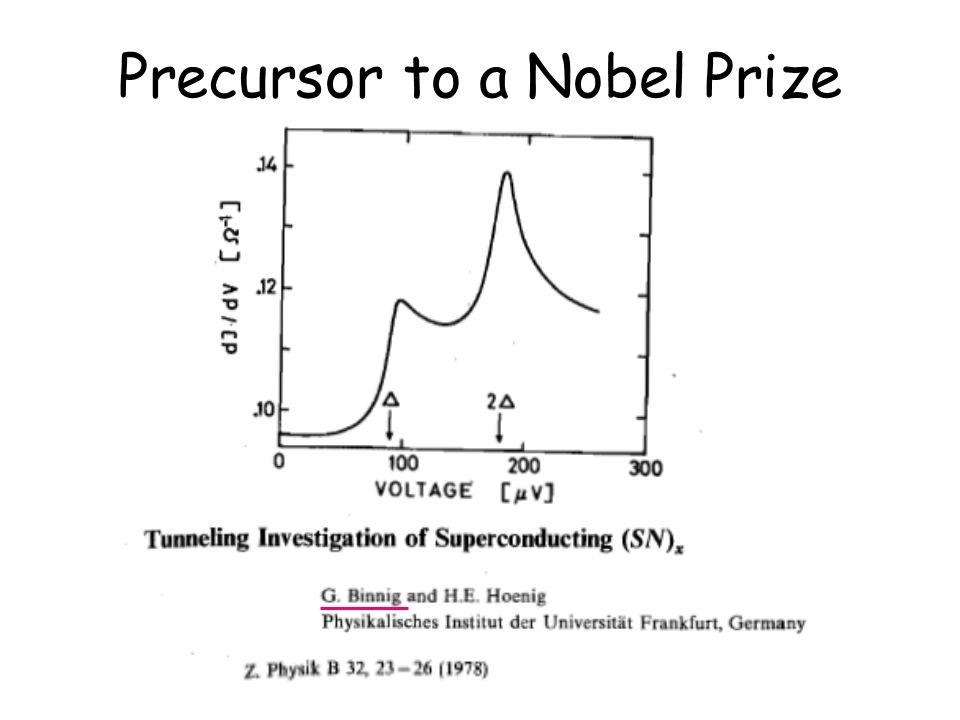 Precursor to a Nobel Prize