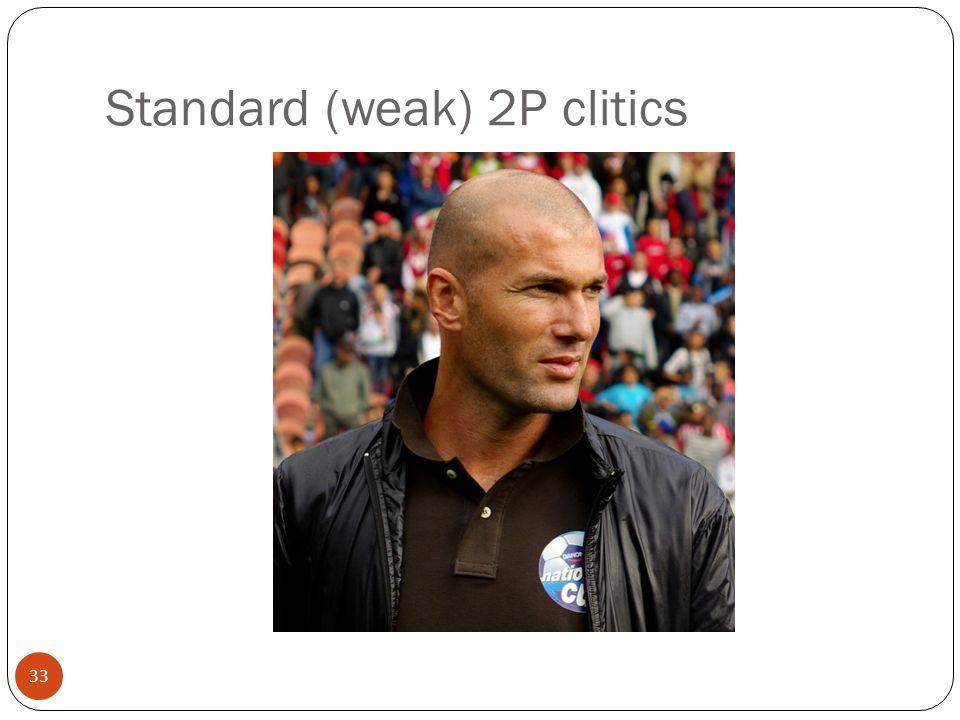33 Standard (weak) 2P clitics
