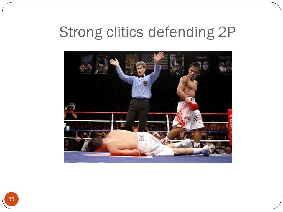 35 Strong clitics defending 2P