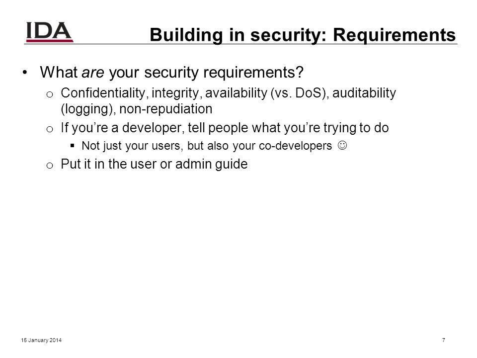 Security 15 January 20146