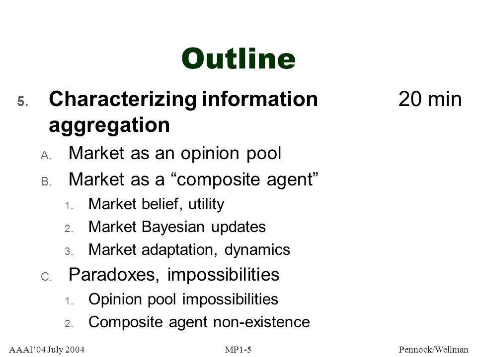 AAAI04 July 2004MP1-96Pennock/Wellman Example: IEM [Source: Berg, DARPA Workshop, 2002]