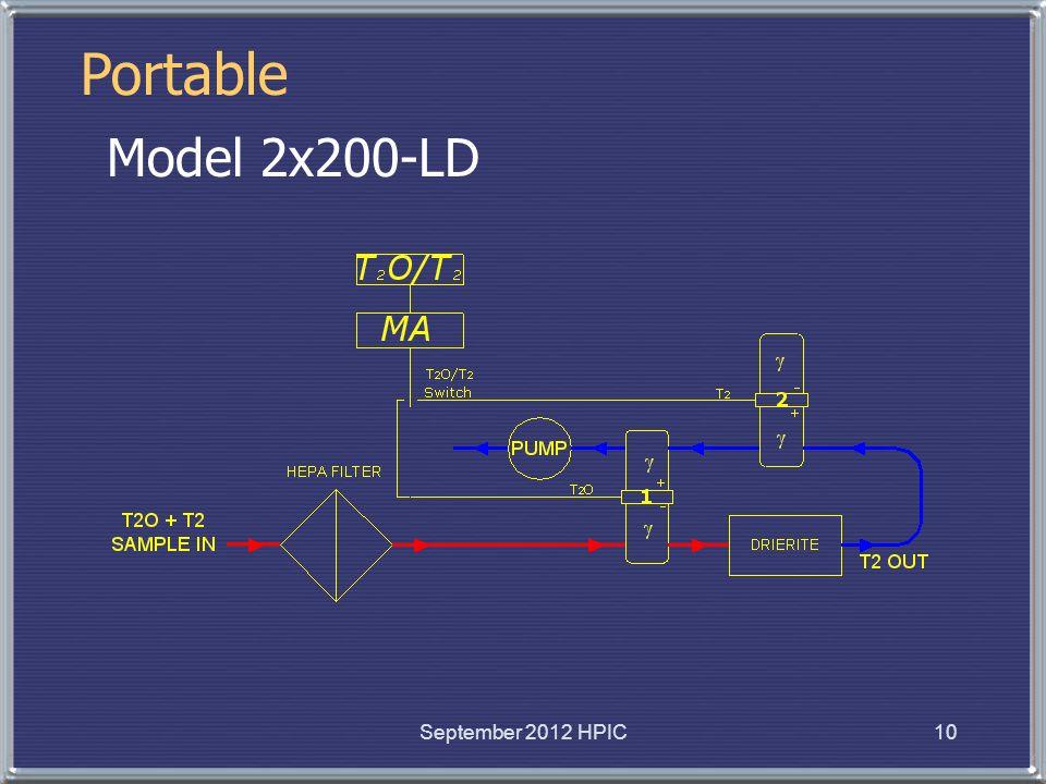 10 Model 2x200-LD Portable