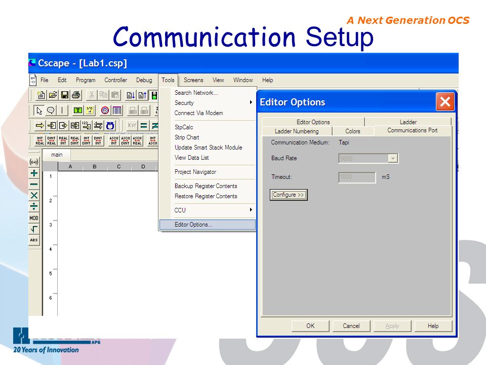 A Next Generation OCS Communication Setup