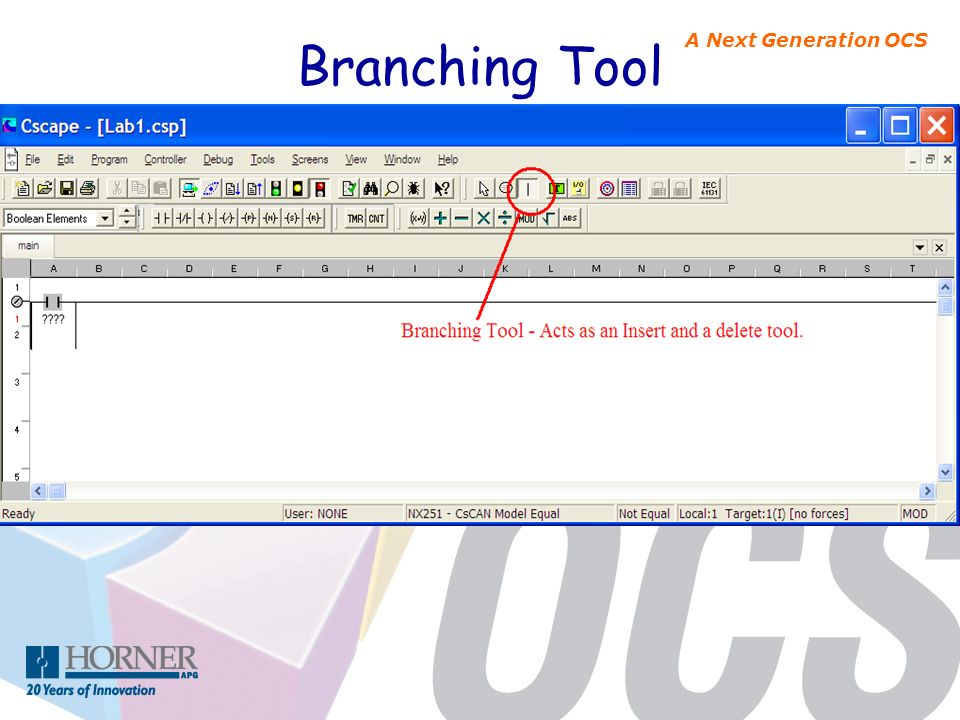 A Next Generation OCS Branching Tool