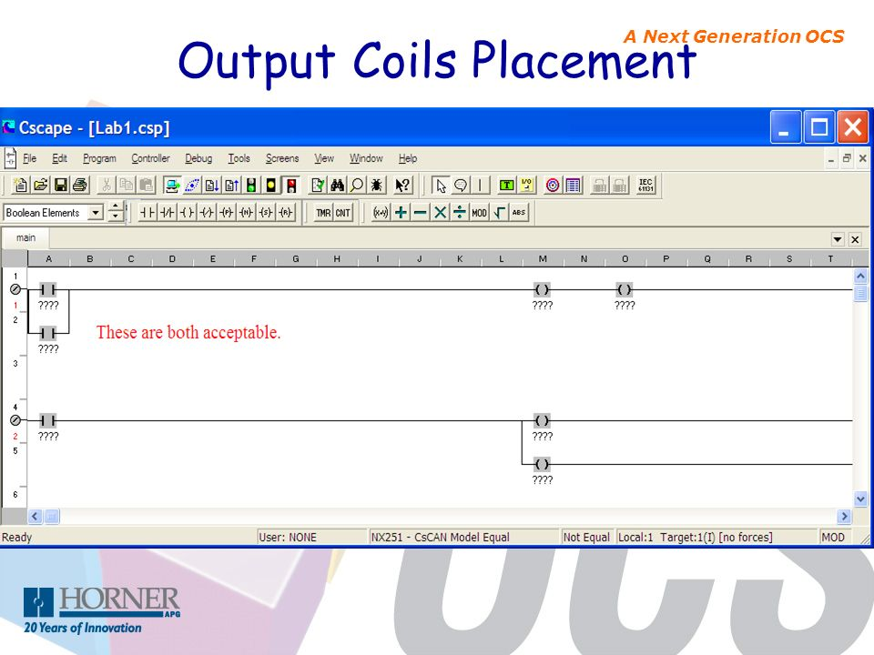 A Next Generation OCS Output Coils Placement