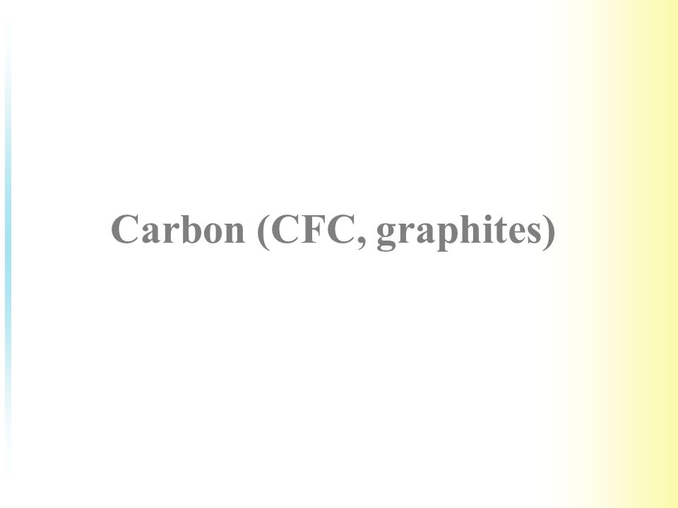 Carbon (CFC, graphites)