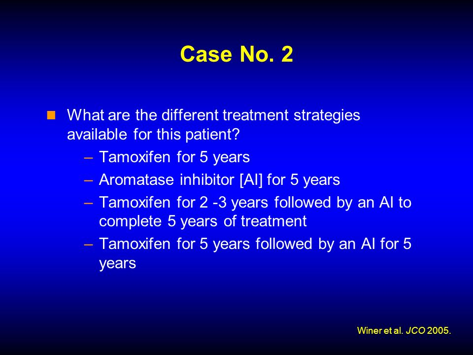 Case No. 2 What are the different treatment strategies available for this patient.