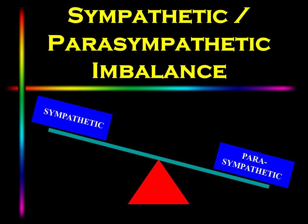 Sympathetic / Parasympathetic Imbalance SYMPATHETIC PARA- SYMPATHETIC