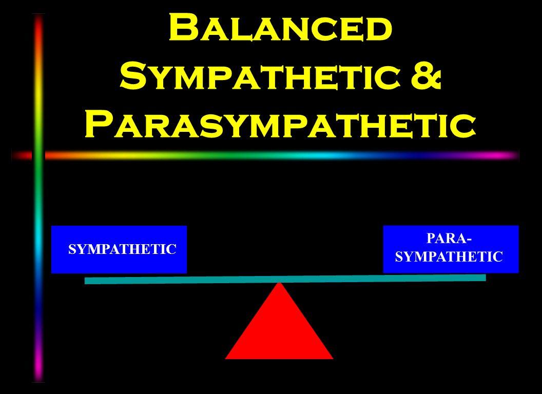 Balanced Sympathetic & Parasympathetic SYMPATHETIC PARA- SYMPATHETIC
