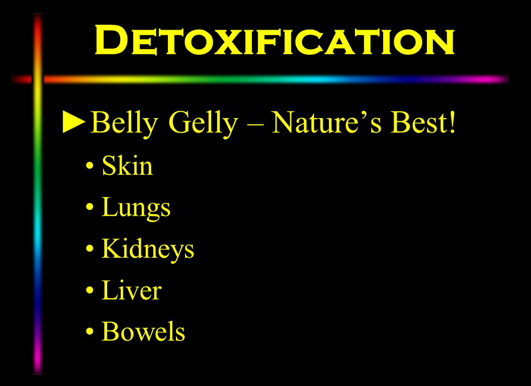 Detoxification Belly Gelly – Natures Best! Skin Lungs Kidneys Liver Bowels