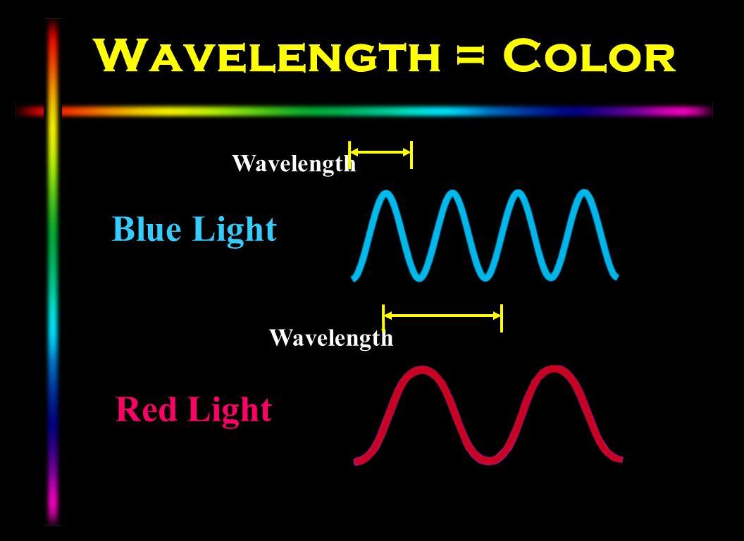 Wavelength = Color Blue Light Red Light Wavelength