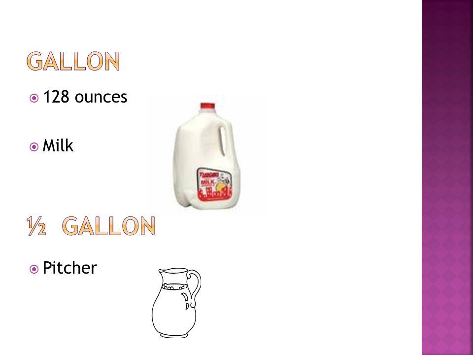 32 ounces 4 cups 2 pints Small Milk container Egg Nog Quart of oil
