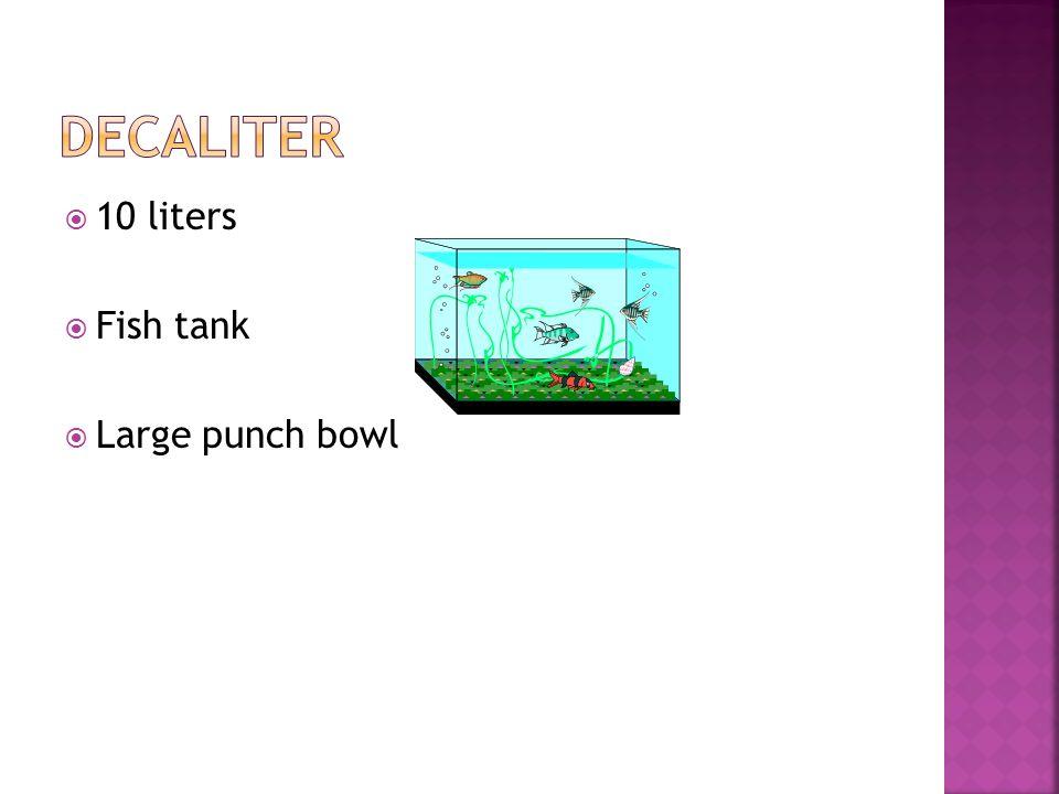 1000 milliliters 100 centiliters 10 deciliters A little more than a quart 2 liter pop bottle