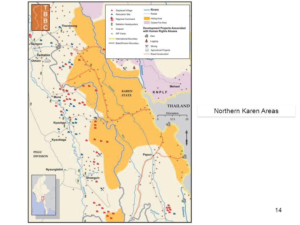 14 Northern Karen Areas