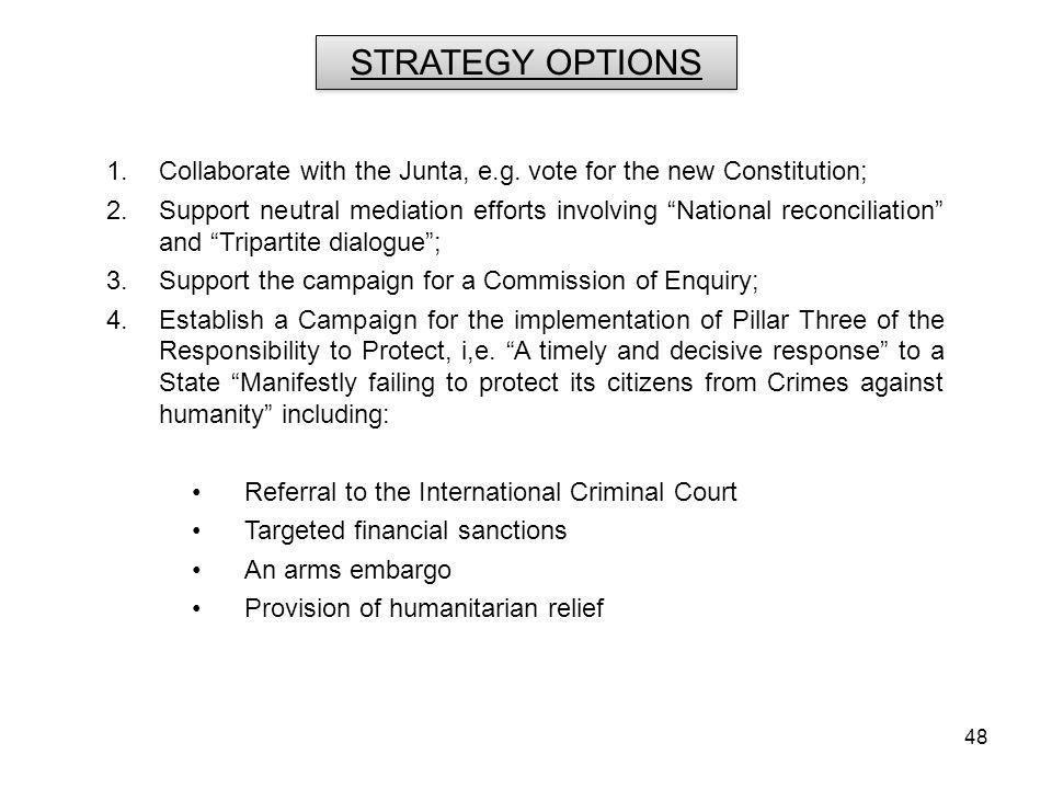 48 1.Collaborate with the Junta, e.g.