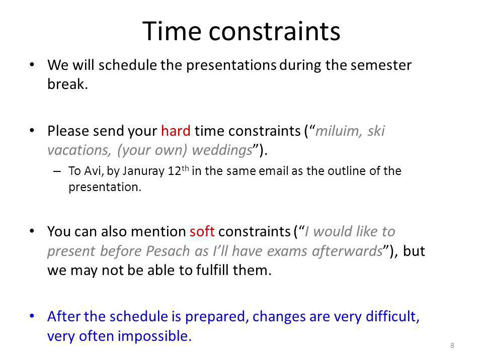 Summary: your duties for the next couple of weeks 9 The following actions are mandatory for participating in the course: Send me (blumrosen@huji.ac.il) an email with the names of students in your team + get my approval for a paper.blumrosen@huji.ac.il – By January 1 st.