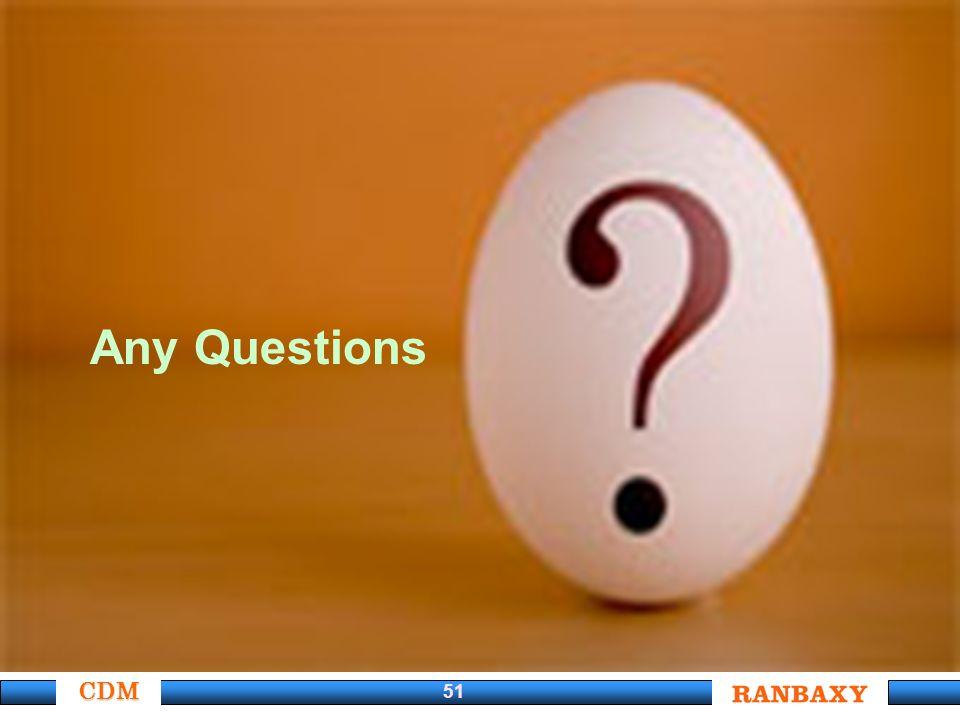 CDM 51 Any Questions