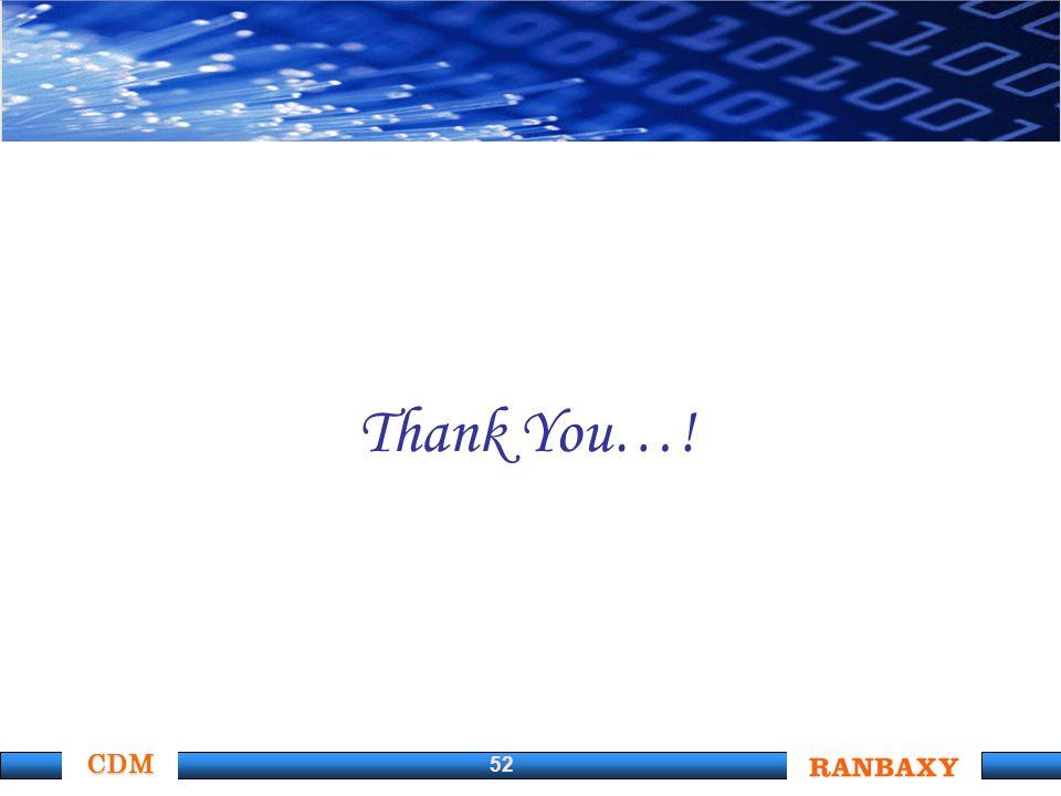 CDM 52 Thank You…!