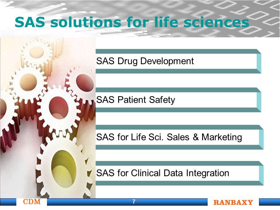 CDM 7 SAS solutions for life sciences SAS for Clinical Data Integration SAS for Life Sci.