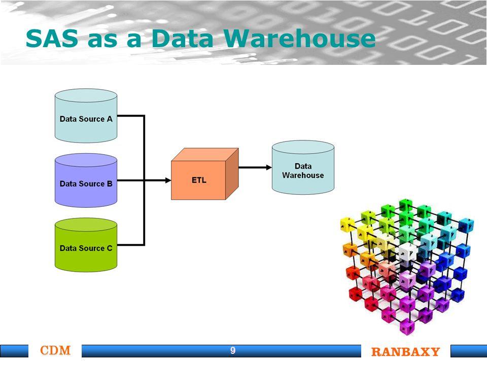 CDM 9 SAS as a Data Warehouse