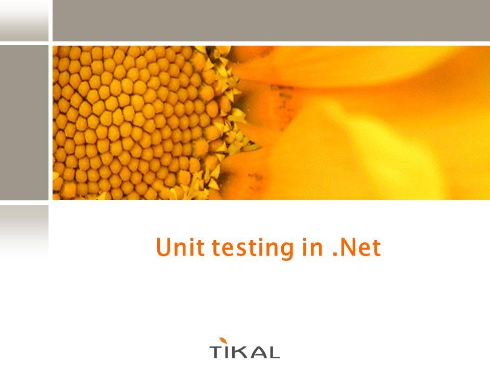 Unit testing in.Net