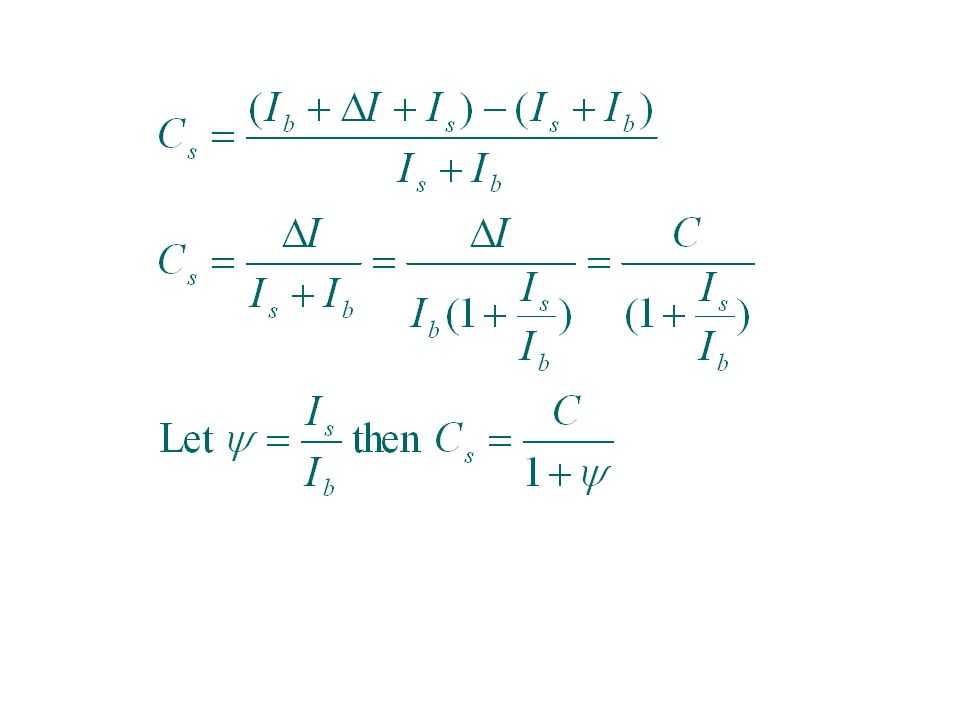 N 2 = N + N s where N s is mean number of scattered photons SNR Effects of Scatter The variance of the background depends on the variance of trans- mitted and scattered photons.