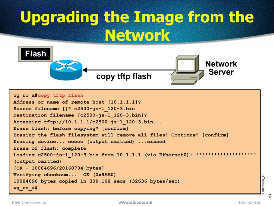 6 Upgrading the Image from the Network