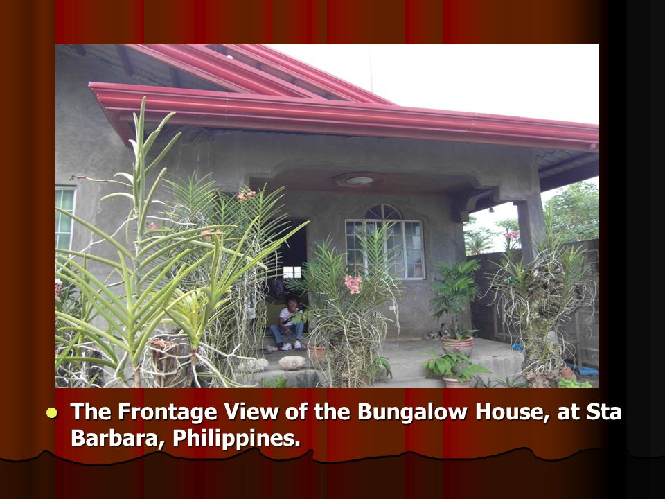The receiving area of the Bungalow House in Sta Barbara, Philippines The receiving area of the Bungalow House in Sta Barbara, Philippines