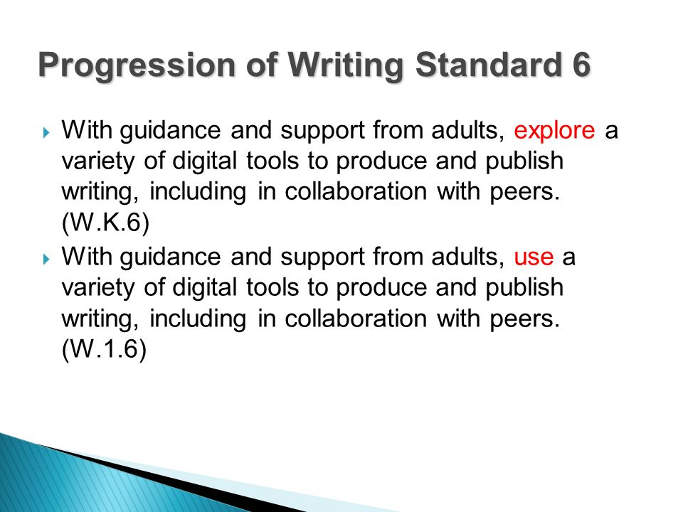 With guidance and support from adults, explore a variety of digital tools to produce and publish writing, including in collaboration with peers. (W.K.