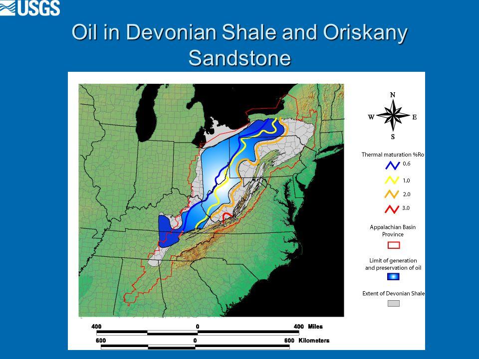 Oil in Devonian Shale and Oriskany Sandstone