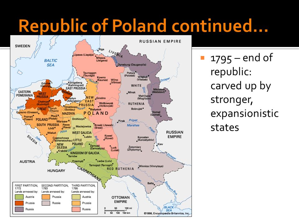 1795 – end of republic: carved up by stronger, expansionistic states