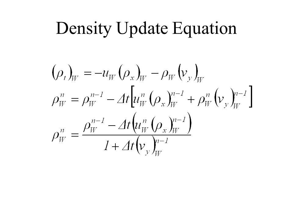 Density Update Equation