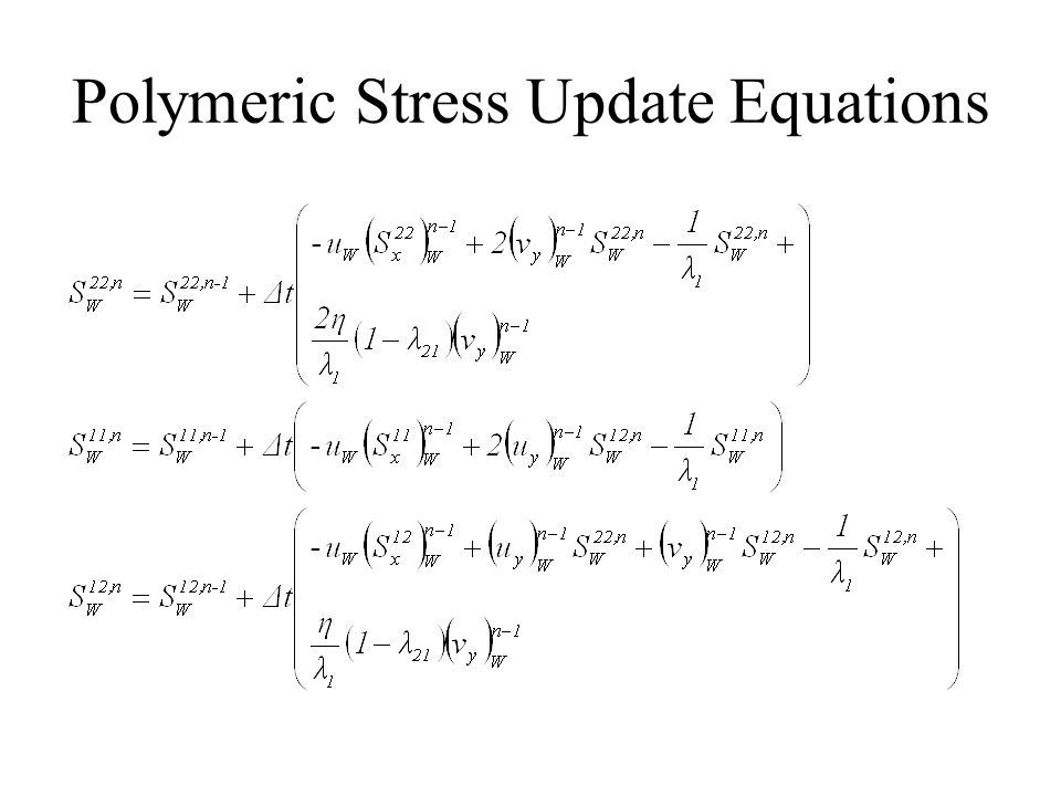 Polymeric Stress Update Equations