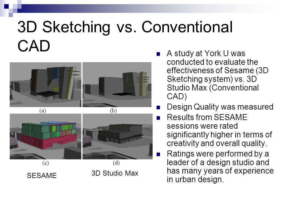 3D Sketching vs.