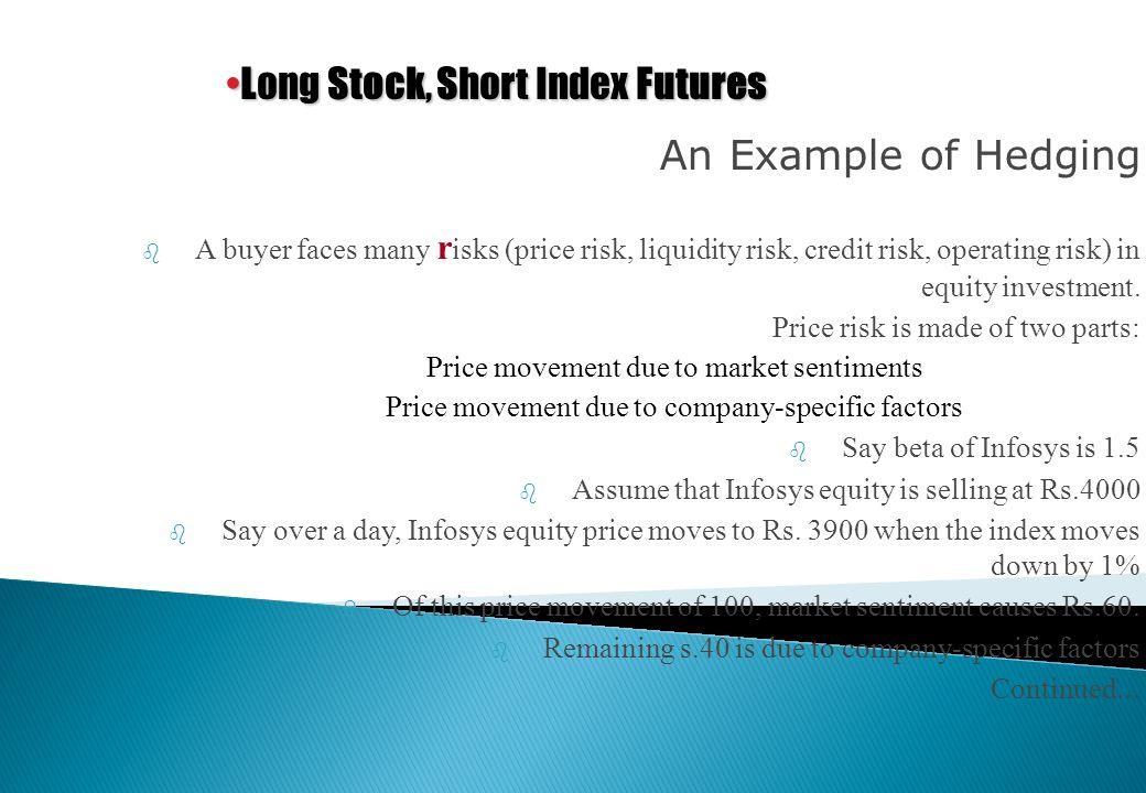 Hedging Long Stock, Short Index Futures Short Stock, Long Index Futures Have portfolio,Short Index Futures Speculation Bullish Index,Long Index Future