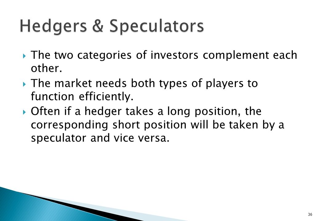 They are calculated risk takers, who will take a risky position, only if they perceive that the expected return is commensurate with the risk. A specu