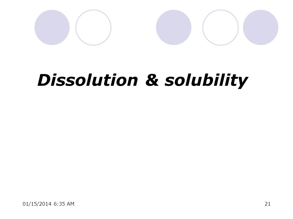 01/15/2014 6:37 AM21 Dissolution & solubility