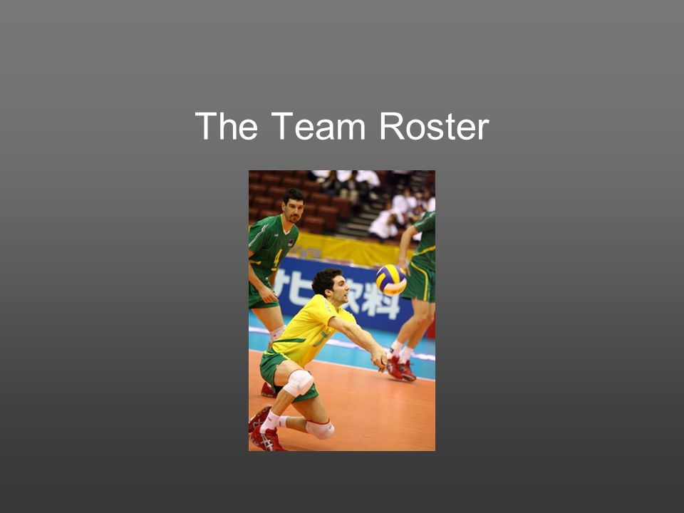 The Team Roster