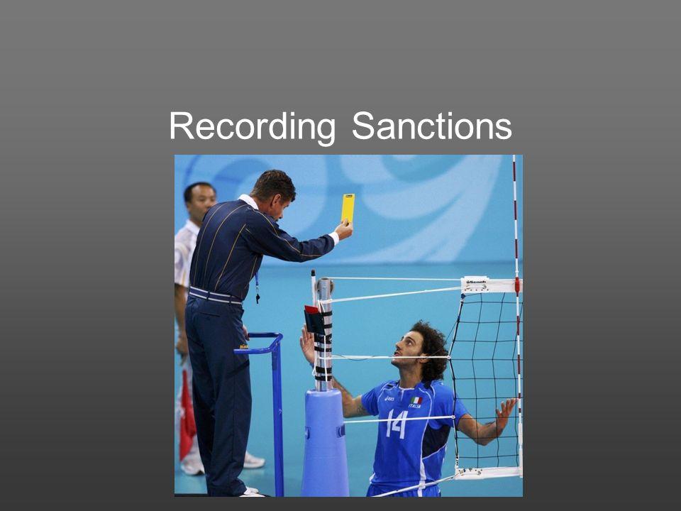 Recording Sanctions