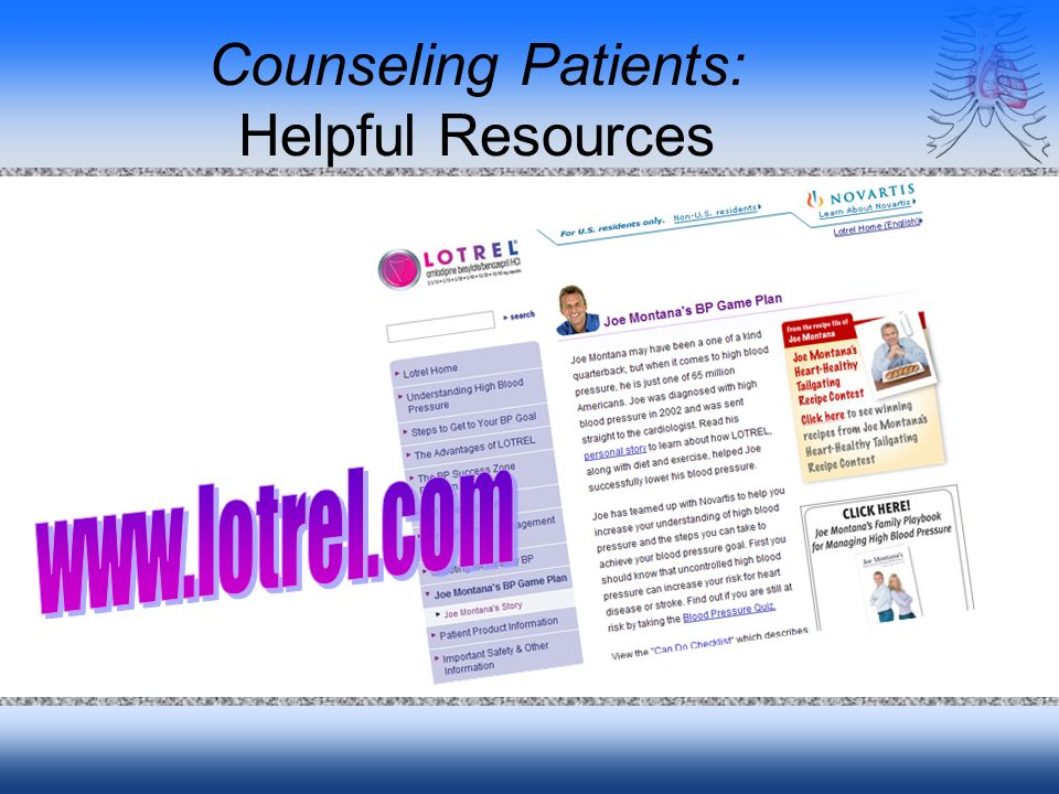 Counseling Patients: Helpful Resources