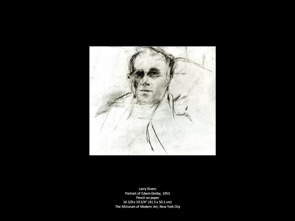 Larry Rivers Portrait of Edwin Denby, 1953 Pencil on paper 16 3/8 x 19 3/4