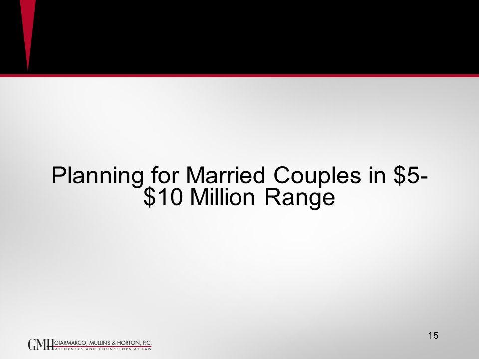 Planning for Married Couples in $5- $10 Million Range GRAT 15