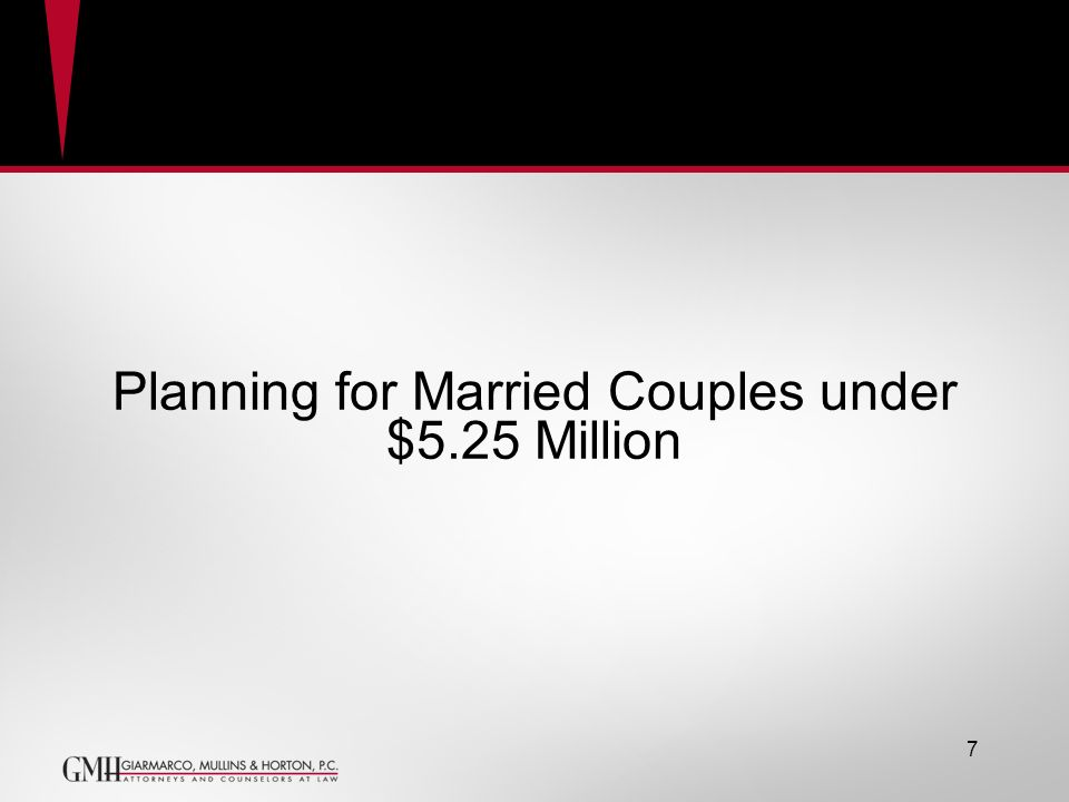 Planning for Married Couples under $5.25 Million GRAT 7