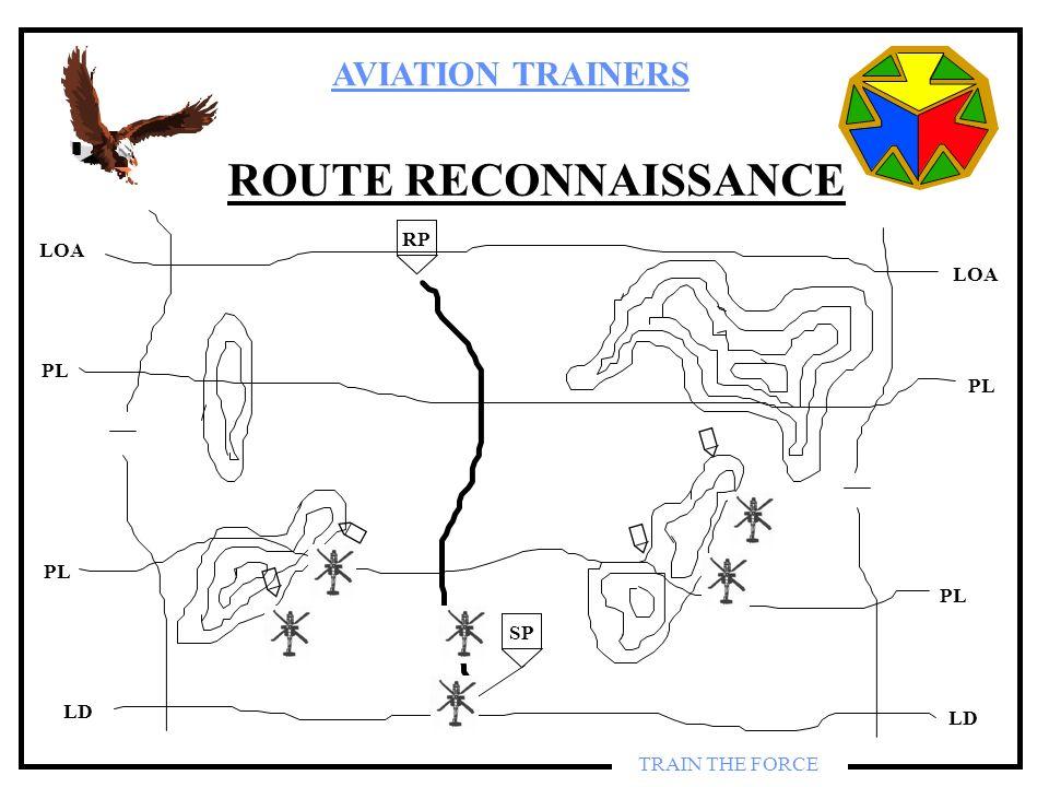 AVIATION TRAINERS TRAIN THE FORCE ROUTE RECONNAISSANCE SP RP LOA PL LD PL