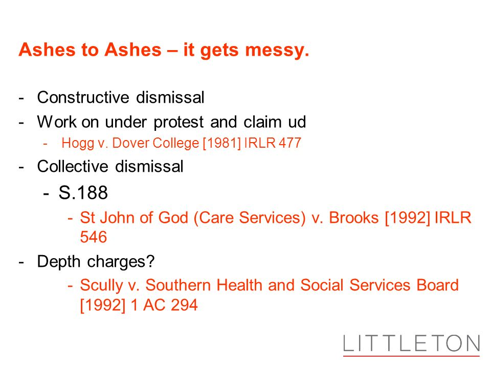 Ashes to Ashes – it gets messy.