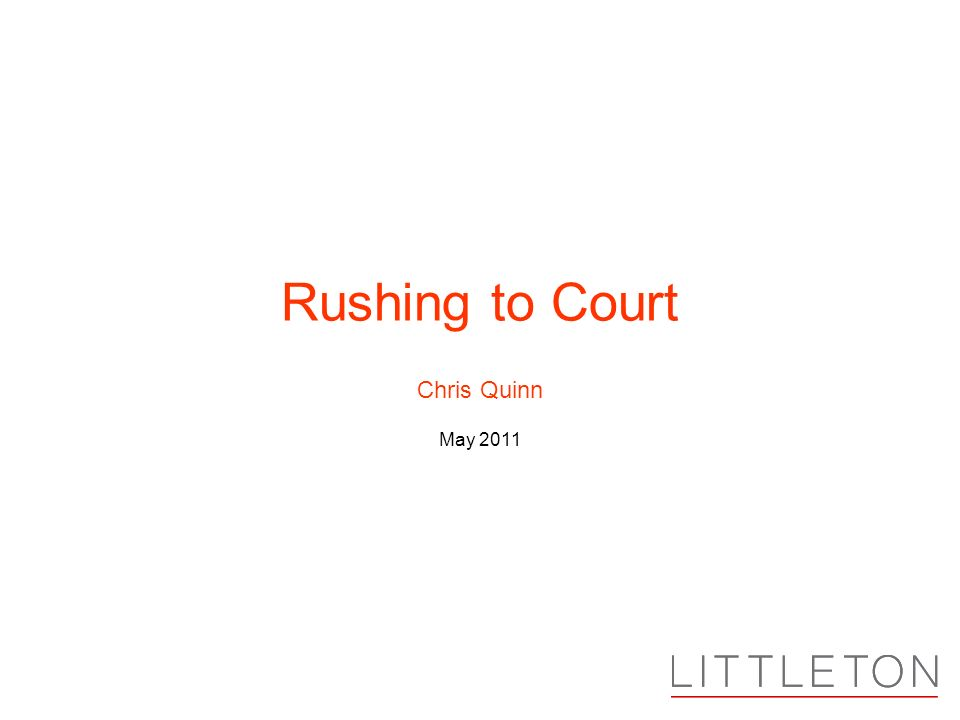 Chris Quinn May 2011 Rushing to Court