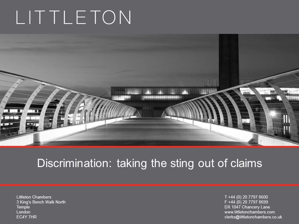 Discrimination: taking the sting out of claims