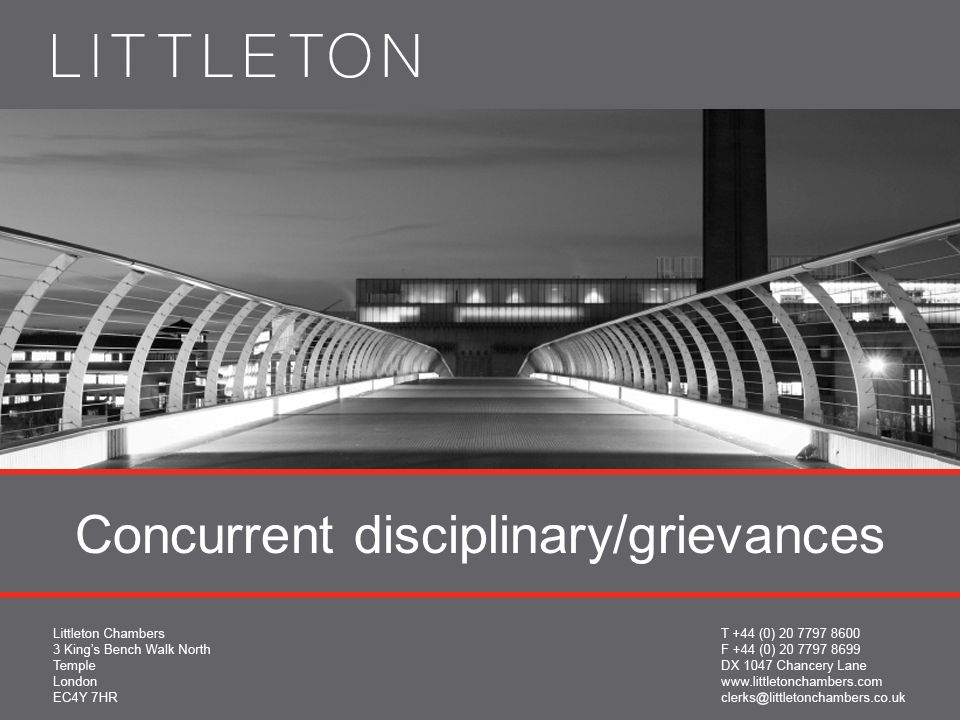 Concurrent disciplinary/grievances